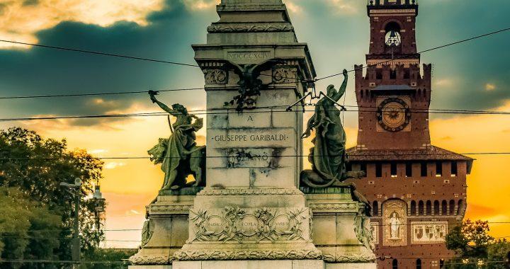 La bandiera della Lombardia